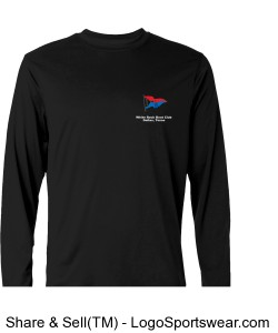 Champion Mens 4 oz. Double Dry Performance Long-Sleeve T-Shirt Design Zoom